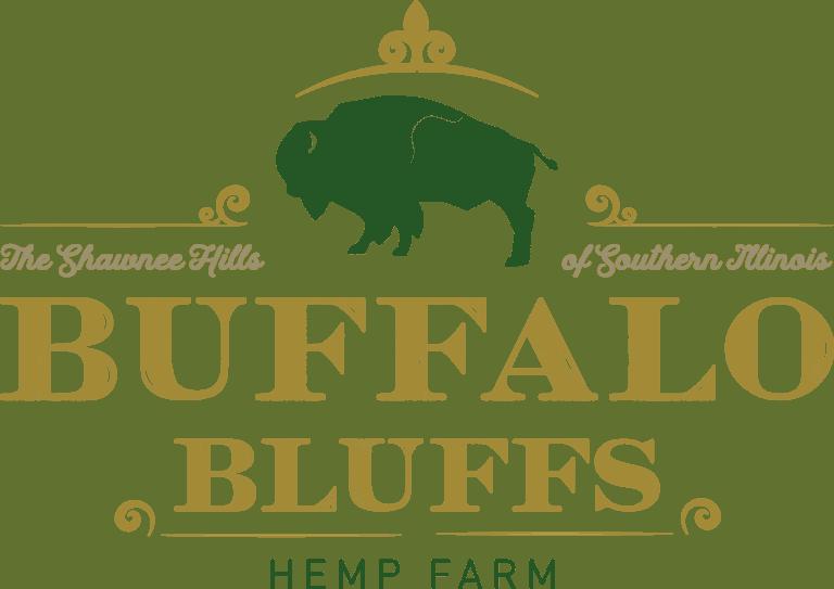Buffalo Bluffs Hemp Farm full logo (gold and green)